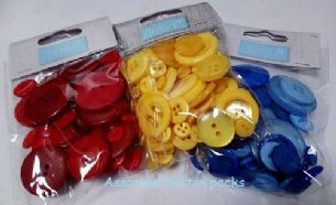 B6210 Bag of Craft Buttons: 50g - Full Colour Range